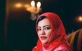 Arabian lady wearing hijab — Foto de Stock