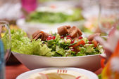 Fattoush Salad on the table — Stock Photo
