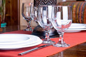 Table setting in the restaurant — Stock Photo