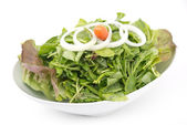 Mixed fresh salad leaves — Stock Photo
