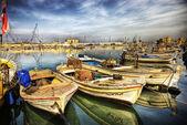 Boats in small harbor, Byblos, Lebanon — Stock Photo