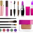 Collection of beauty makeup — Stock Photo