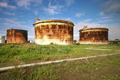 Abandoned industrial cisterns — Photo