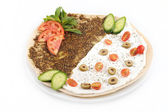 Lebanese food of manakish — Stock Photo