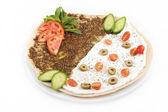 Lebanese food of manakish — Stock Photo