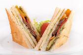 Chicken club sandwiches — Stock Photo
