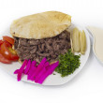 Постер, плакат: Shawarma style beef on a pita