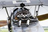 Mitrailleuses de guerre mondiale 1 biplan — Photo