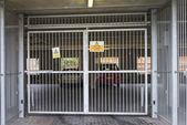 Gated car parking — Stock Photo
