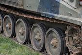 Miltary tracked vehicle — Stock Photo