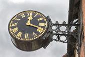Victorian style English village clock — Stock Photo