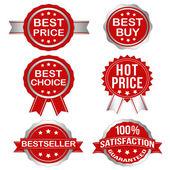 Vector Badges Set 1 (Silver) — Stock Vector