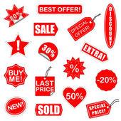 Vector Sale Elements Set 2 — Stock Vector