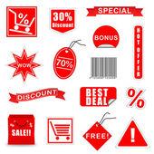 Vector Sale Elements Set 3 — Stock Vector