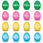 Easter Sale Eggs — Stock Vector