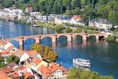 A bridge on a river: Heidelberg — Stock Photo