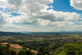 View of the famous Val di Chiana in Tuscany — Fotografia Stock