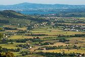 View of Val di Chiana in Tuscany — Stock fotografie