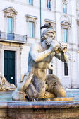 Detail of Moor fountain in Roma — Stock Photo