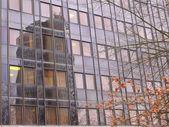 Skyscraper reflection — Stock Photo