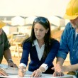 Architect and Construction Foreman — Stock Photo