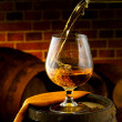 Stock Photo: Glass of cognac