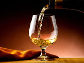 Glass of cognac — Stock Photo