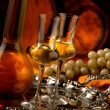 Stock Photo: Glasses of grappa