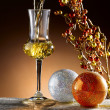 Stock Photo: Glass of grappa