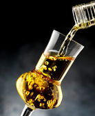 Glass with brandy — Stock Photo