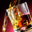 Stock Photo: Glass of whiskey