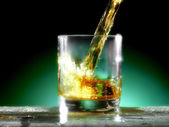Glass of whiskey — Stock Photo
