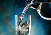 Glass of cold water — Stock Photo