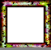 Frames decorated with colorful flowers — Stock Photo