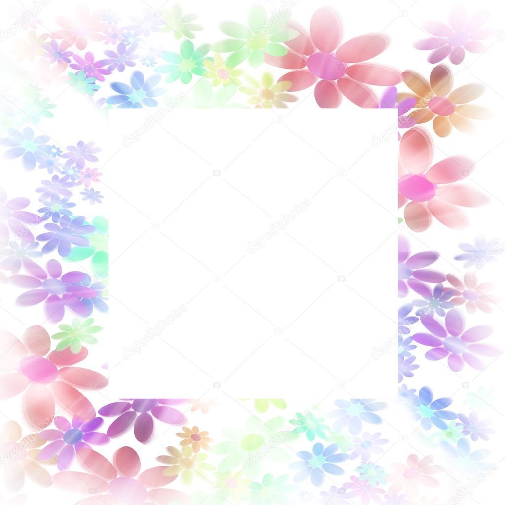 Marcos decorados con flores de colores fotos de stock - Marcos decorados ...