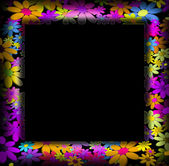 Frames decorated with colorful flowers — Photo