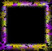 Frames decorated with colorful flowers — Stock fotografie