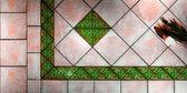 Tiled floor with Greek — Stock fotografie