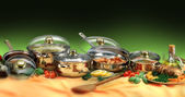 Cookware sets — Stock Photo