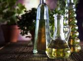 Olej a olivy — Stock fotografie