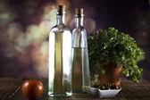 Aceite y aceitunas — Foto de Stock