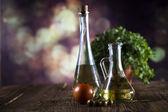 Olej z oliwek i oliwek — Zdjęcie stockowe