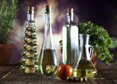 Bottles of olive oil — Stock Photo