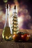 Lahve olivového oleje — Stock fotografie