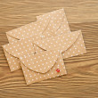 St. Valentine's day envelopes with hearts — Stock Photo