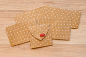 St. Valentine's day envelopes with hearts — Stok fotoğraf
