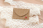 St. Valentine's day envelopes with hearts — Foto de Stock