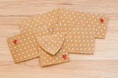 St. Valentine's day envelopes with hearts — Стоковое фото