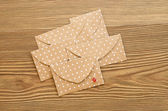 St. Valentine's day envelopes with hearts — Stockfoto