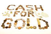 Środki pieniężne dla złota — Zdjęcie stockowe